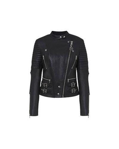Кожаная куртка - черная Diesel