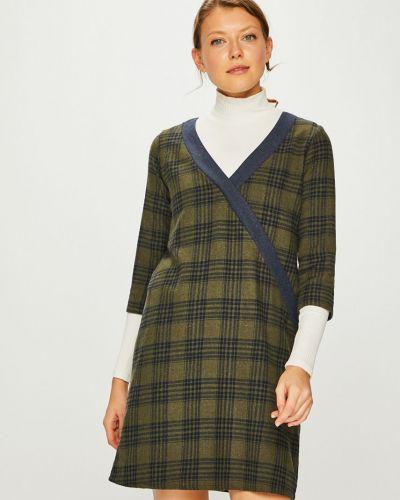 Платье мини прямое с V-образным вырезом Trendyol