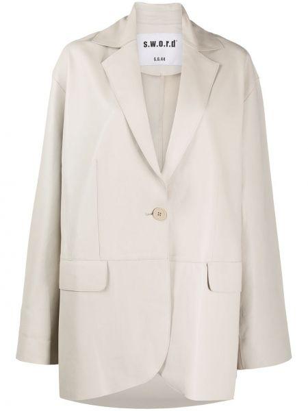 Кожаный пиджак с карманами с воротником S.w.o.r.d 6.6.44