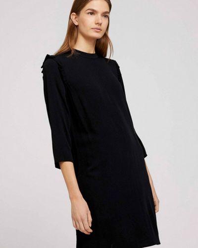 Прямое черное джинсовое платье Tom Tailor Denim