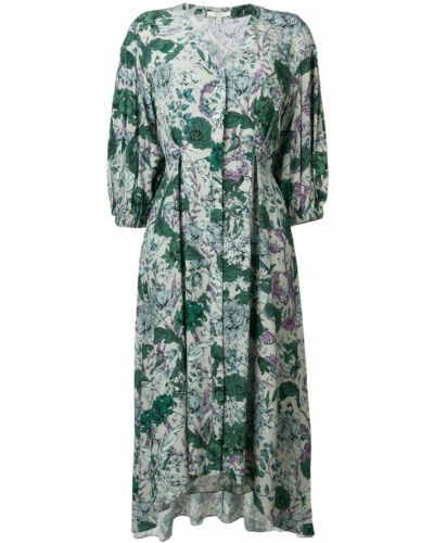 Расклешенное приталенное платье миди на молнии Dagmar