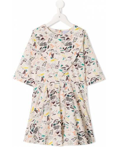Платье плиссированное белое Spilow