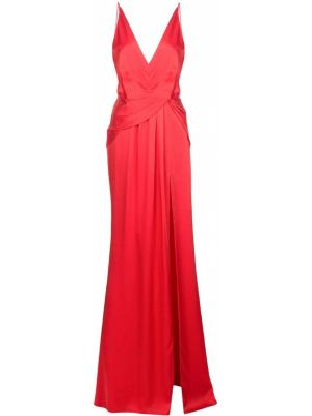 Драповое приталенное тонкое платье на бретелях Jason Wu Collection