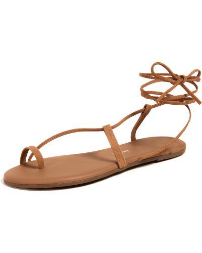 Sandały skorzane sznurowane koronkowe Tkees