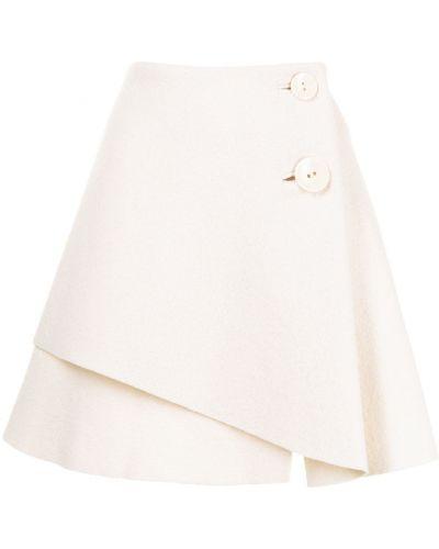 Шерстяная юбка миди - белая Ports 1961