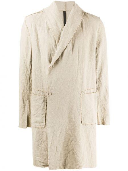 С рукавами прямое длинное пальто с воротником на пуговицах Poème Bohémien