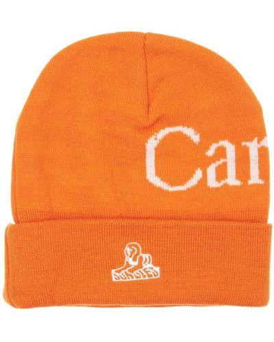 Pomarańczowy czapka beanie z haftem Carrots X Jungle