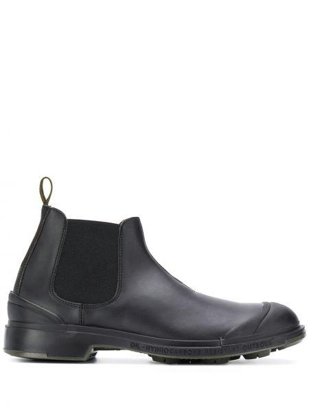 Czarne ankle boots płaska podeszwa Pezzol 1951