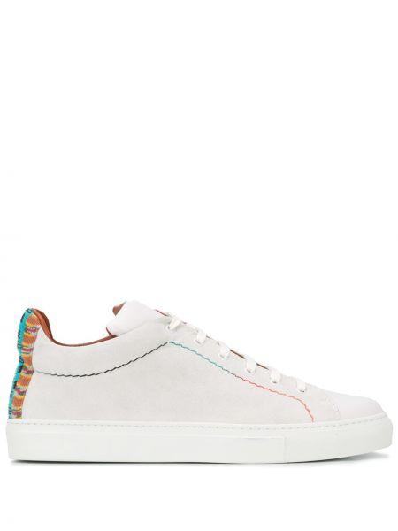Wysoki sneakersy białe skórzane Missoni
