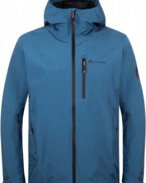 Прямая синяя куртка с капюшоном мембранная на молнии Outventure