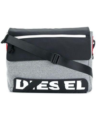 Сумка мессенджер на плечо на молнии Diesel