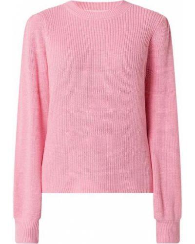 Prążkowany różowy sweter bawełniany Moves