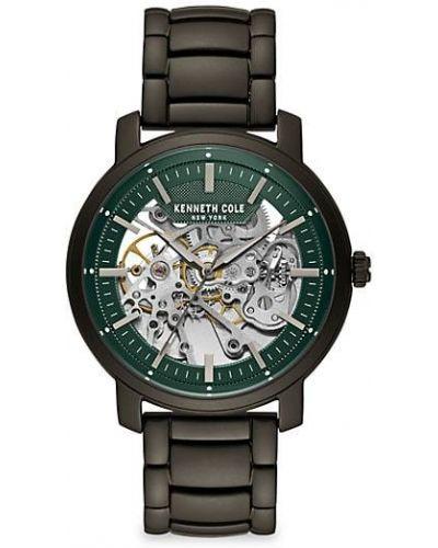 Zielony zegarek mechaniczny srebrny Kenneth Cole New York