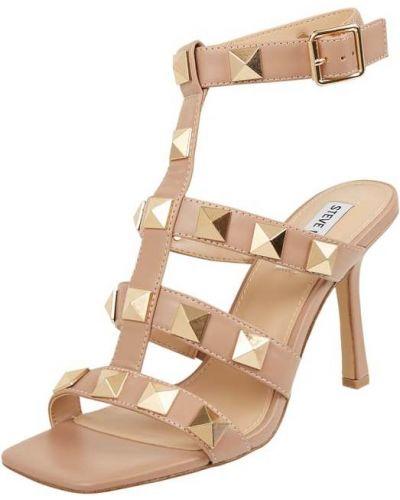 Sandały na szpilce - beżowe Steve Madden