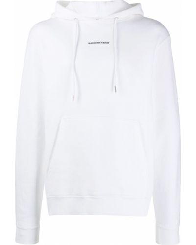 Bluza długa z kapturem z długimi rękawami bawełniana Sandro Paris
