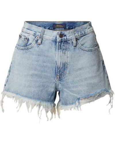 Niebieskie szorty jeansowe bawełniane Polo Ralph Lauren