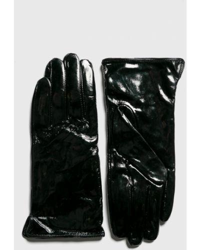 Черные кожаные перчатки Answear