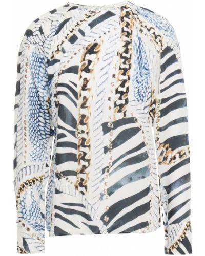 Шелковая блузка - белая Pierre Balmain