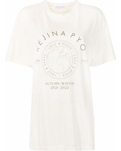 Белая прямая футболка Rejina Pyo