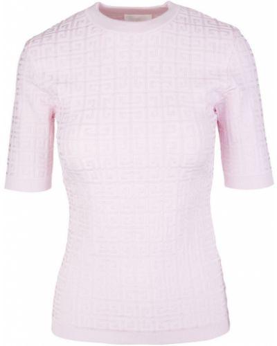 Koszulka z wiskozy - różowa Givenchy