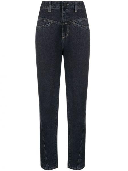 Серые джинсы с высокой посадкой с поясом Closed