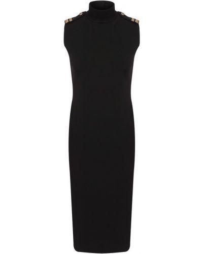 Платье миди из вискозы черное Ralph Lauren