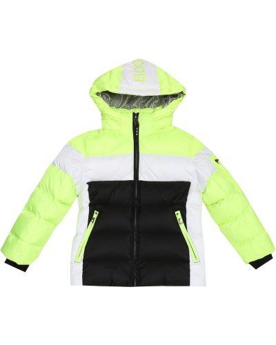 Pikowana puchaty zielony pikowana kurtka Bogner Kids