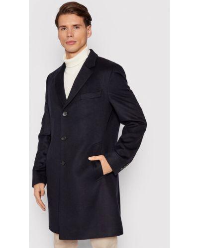 Płaszcz wełniany - granatowy Boss