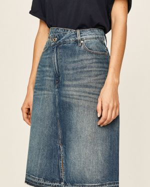 Юбка миди джинсовая на пуговицах G-star Raw
