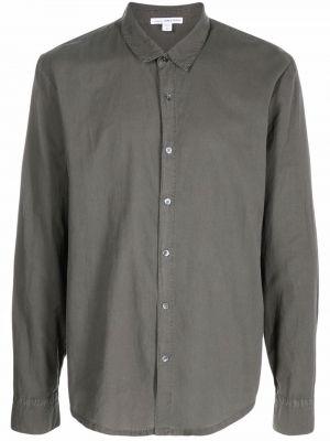 Рубашка с длинным рукавом - зеленая James Perse