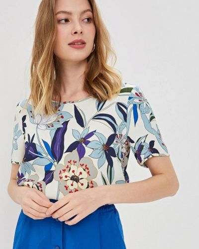 Блузка с коротким рукавом синяя Gerry Weber