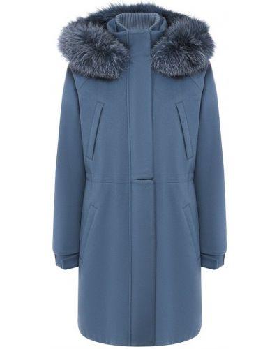 Куртка с капюшоном кашемировая с подкладкой Loro Piana