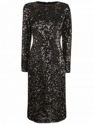 Платье миди с пайетками - черное Just Cavalli