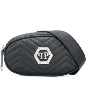 Черная стеганая сумка Philipp Plein Junior