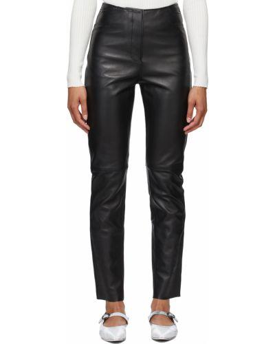 Кожаные брюки - черные Toteme