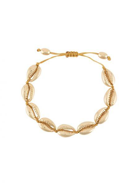 Золотистый желтый браслет металлический Tohum
