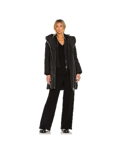 Вязаная черная кожаная куртка Mackage