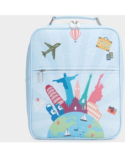 Кожаный рюкзак синий Parfois