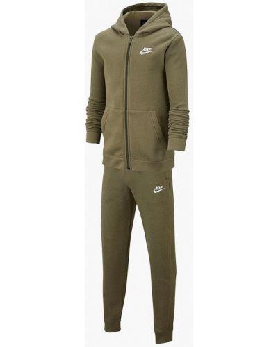 Спортивный костюм зеленый хаки Nike