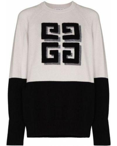 Czarny długi sweter dzianinowy z długimi rękawami Givenchy