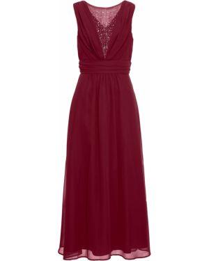 Вечернее платье макси с поясом Bonprix