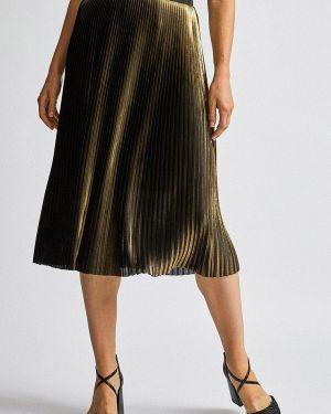 Плиссированная юбка золотой Dorothy Perkins