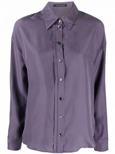 Фиолетовая шелковая рубашка Luisa Cerano