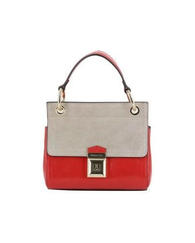 Розовая кожаный сумка Patrizia Pepe