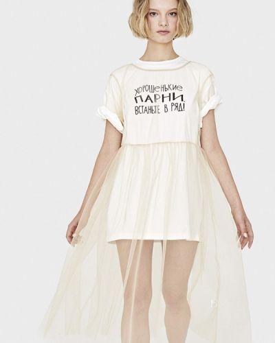 Платье миди бежевое Sultanna Frantsuzova