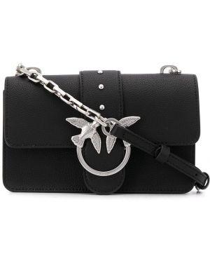 Черная сумка на плечо с пряжкой Pinko