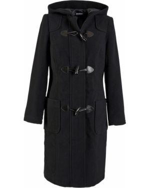 Пальто с капюшоном на молнии шерстяное Bonprix
