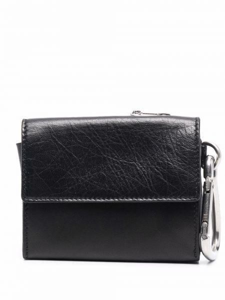 Czarny portfel srebrny Oamc