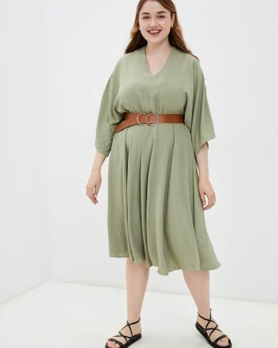 Повседневное платье хаки Grafinia