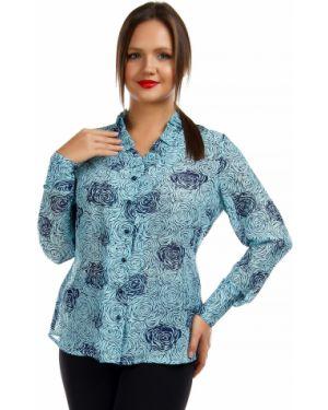 Блузка с рюшами с цветочным принтом Liza Fashion